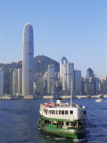 Star Ferry and City Skyline, Hong Kong, China Photographic Print by Steve Vidler