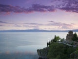Sveti Jovan at Kaneo Church and Lake Ohrid, Ohrid, Macedonia Photographic Print by Walter Bibikow
