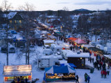 Winter Fair, Jokkmokk, Norrbotten, Northern Sweden Fotografie-Druck von Peter Adams
