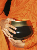 Thailand, Bangkok, Detail of Monk Holding Alms Bowl Photographic Print by Steve Vidler