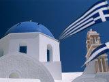 Santorini, Oia, Cyclades Islands, Greece Photographic Print by Steve Vidler