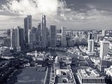 Financial District, Singapore Fotografie-Druck von Alan Copson