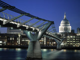 Millennium Bridge and St. Paul's, London, England Photographic Print by Alan Copson