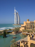 Mina a Salam and Burj Al Arab Hotels, Dubai, United Arab Emirates Photographic Print by Gavin Hellier