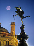 Eros statue, Piccadilly Circus, London, England Photographic Print by Rex Butcher