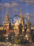 St. Basil's Catherdal, Red Square, Moscow, Russia Photographic Print by Peter Adams