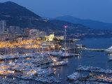 Harbour at Dusk, Monte Carlo, Monaco Fotodruck von Peter Adams