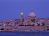 City Skyline at Dusk, Valetta, Malta Photographic Print by Steve Vidler