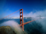 Golden Gate Bridge with Mist and Fog, San Francisco, California, USA Photographic Print by Steve Vidler