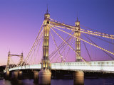 Albert Bridge, Chelsea, London, England Photographic Print by Steve Vidler