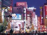 Shinjuku, Shinjuku-dori, Nightlights, Tokyo, Honshu, Japan Photographic Print by Steve Vidler