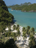 Beach on Ko Wat Ta Lap, Ang Thong National Marine Park, Ko Samui, Thailand Photographic Print by Michele Falzone