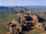 Monument Valley, Aerial, Arizona, USA Photographic Print by Steve Vidler