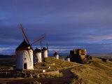 La Mancha, Windmills, Consuegra, Castilla-La Mancha, Spain Photographic Print by Steve Vidler