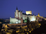 Alcazar, Night View, Segovia, Castilla Y Leon, Spain Photographic Print by Steve Vidler