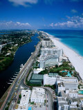 Miami Beach Skyline, Aerial, Miami, Florida, USA Photographic Print by Steve Vidler