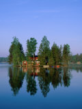Lake View, House on Island, Sormland, Sweden Photographic Print by Steve Vidler
