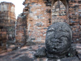 Buddha Statue, Temples of Ayutthaya Thailand Photographic Print by Russell Young