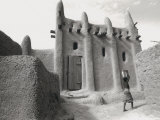 Mud Building, Nr Djenne, Mali Photographic Print by Peter Adams