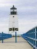 Charlevoix Lighthouse on Lake Michigan, Michigan, USA Photographic Print by Walter Bibikow
