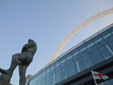 Bobby Moore Statue at Wembley Stadium, Brent, London, England Photographic Print by Jane Sweeney
