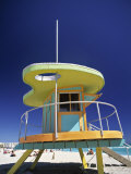 Lifeguard Station at Miami Beach, Florida, USA Photographic Print by Peter Adams