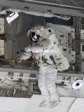 Astronaut Participating in Extravehicular Activity Photographic Print by Stocktrek Images