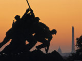 Iwo Jima Memorial, Washington D.C. Usa Fotoprint van Walter Bibikow