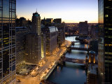 West Wacker Drive, Chicago, Illinois, USA Photographic Print by Walter Bibikow