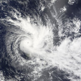 Tropical Cyclone Daman Photographic Print by  Stocktrek Images