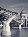St. Paul's and Millennium bridge, London, England Photographic Print by Doug Pearson