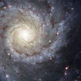 Spiral Galaxy Messier 74 Photographic Print by  Stocktrek Images