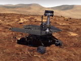 Artists Rendition of Mars Rover Photographic Print by  Stocktrek Images