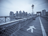Manhattan and Brooklyn Bridge, New York City, USA Photographic Print by Alan Copson