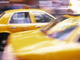 Taxis, New York City, USA Photographic Print by Peter Adams