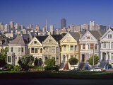 Alamo Square and City Skyline, San Francisco, California Usa Photographic Print by Gavin Hellier