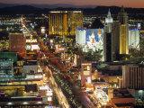 The Strip, Las Vegas, Nevada, USA Photographic Print by Walter Bibikow