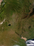 Satellite View of Argentina Photographic Print by  Stocktrek Images