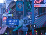 Beale Street Entertainment Area, Memphis, Tennessee, USA Photographic Print by Walter Bibikow