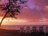 Beach Chairs, Kauai, Hawaii, USA Photographic Print by Walter Bibikow