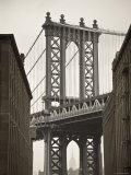 Manhattan Bridge and Empire State Building, New York City, USA Fotodruck von Alan Copson