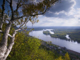 Buena Vista Park Lookout, Mississippi River, Alma, Wisconsin, USA Photographic Print by Walter Bibikow