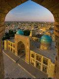Mir-I-Arab Madrassah from Kalon minaret, Bukhara, Uzbekistan Photographic Print by Michele Falzone