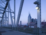 Downtown from Shelby Street Bridge, Nashville, Tennessee, USA Photographic Print by Walter Bibikow