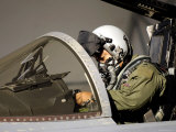 Pilot Prepares His F-15A Eagle Lmina fotogrfica por Stocktrek Images