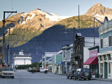 Broadway Street, Skagway, Alaska, USA Photographic Print by Walter Bibikow