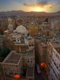 Skyline of Sanaa, Yemen Photographic Print by Michele Falzone