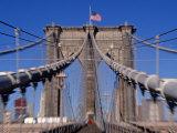 Brooklyn Bridge, Manhattan, New York City, USA Photographic Print by Doug Pearson