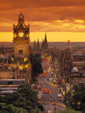 Princes St., Calton Hill, Edinburgh, Scotland Photographic Print by Doug Pearson