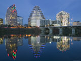 City Skyline Along Town Lake, Austin, Texas, USA Photographic Print by Walter Bibikow